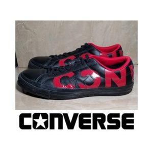 Converse One Star Leather OX Black/Red/Black SHOES
